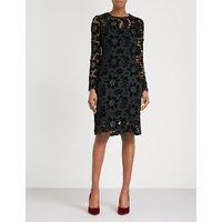 Basset lace and velvet dress