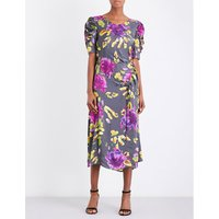 Brooklyn Multicolour Artist floral-print satin dress
