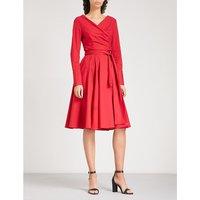 Streatley stretch-cotton wrap dress