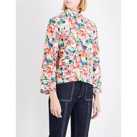 Maple floral silk top
