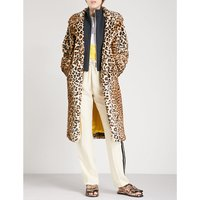 Ferris leopard-print faux-fur coat