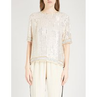 Temple sequin top