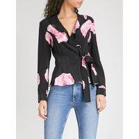 Fayette silk wrap blouse