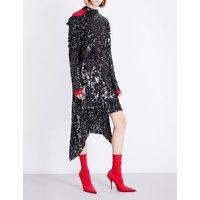Blackpool asymmetric sequin dress