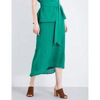 Cefinn Fish tail viole maxi skirt, Women's, Size: 8, Emerald