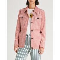 Pocket-detail corduroy jacket