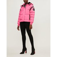 Quilted padded shell hooded jacket