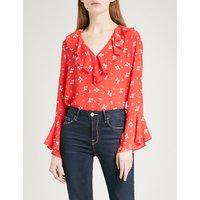 Jane V-neck silk blouse