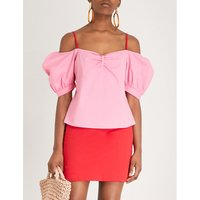 Ruby sweetheart neckline stretch-cotton top
