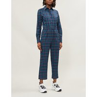 Roland checked flared woven jumpsuit