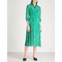 Gabriella floral-print chiffon midi shirt dress