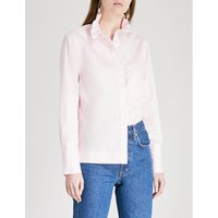 Ivy frilled-collar cotton-poplin shirt