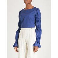 Karolina stretch-cotton top