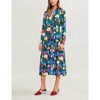 Liana floral-print crepe de chine wrap dress