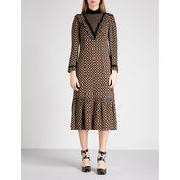 Margaret crepe smock dress