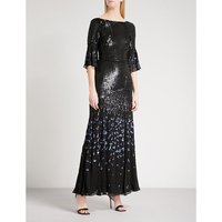 Celestial sequinned maxi dress