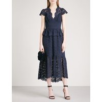 Lunar fit-and-flare lace midi dress