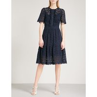 Lunar fit-and-flare lace dress