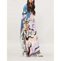 Pop Flower silk kaftan dress