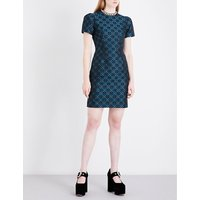 Azurite crepe mini dress