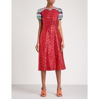 Robin fit-and-flare sequinned dress