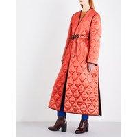 Toledo satin-finish quilted coat