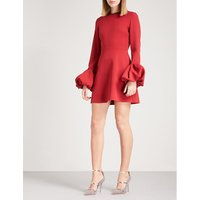 Gaia crepe mini dress