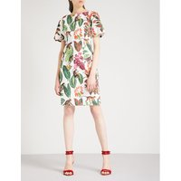 Jungle-print stretch-cotton dress