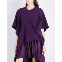 Sies Marjan Ladies Plum Luxe Oversized Corduroy Cotton-Blend Cape, Size: 8