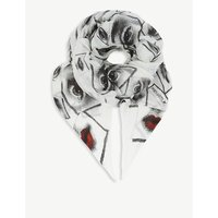 Snake-print modal and cashmere scarf