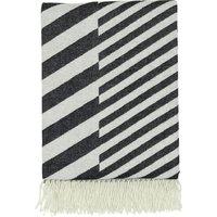 Diagonal-jacquard wool blanket