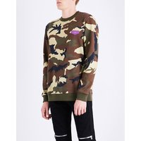 Camouflage cotton-jersey sweatshirt