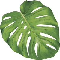 Hester & Cook Die-cut monstera leaf table accents (set of 12)