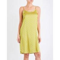 Ladybird silk-satin slip dress