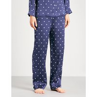 Polka dot silk-satin pyjama bottoms