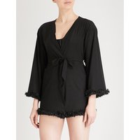 Seductress crepe robe