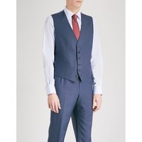 Birdseye-weave wool waistcoat
