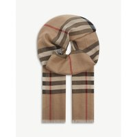 BURBERRY | Burberry Giant check wool and silk-blend scarf | Goxip