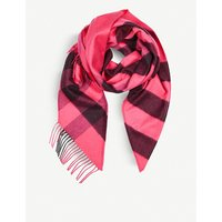 Check cashmere bandana scarf