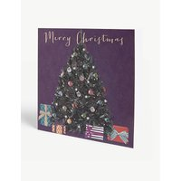 Tree print Christmas card