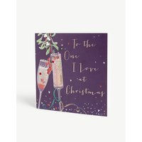 'One I love' slogan print Christmas card