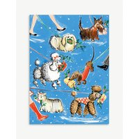 Puppy presents Christmas cards 8-pack