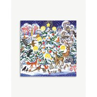 Christmas tree print Chistmas cards pack of five