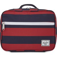 Striped canvas lunchbox