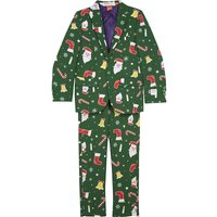 Santaboss suit and clip-on tie 2-8 years