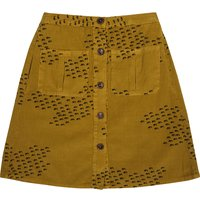 Buttons flocks corduroy skirt