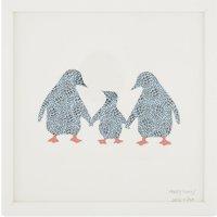 Happy Family animal print penguin frame
