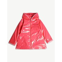 Stripe-detail raincoat 4-12 years