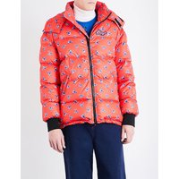 La Collection Memento flower-print down and feather-blend puffer jacket