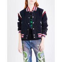 Embroidered cotton-corduroy jacket